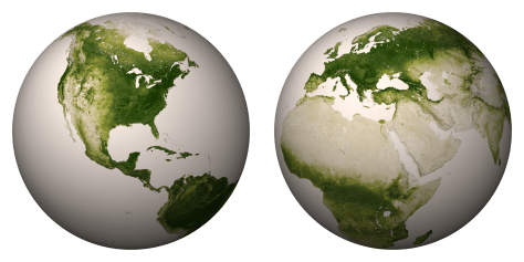 NASA vegetation globes