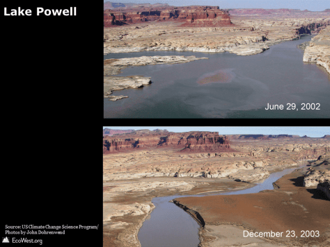 Lake Powell drought photograph
