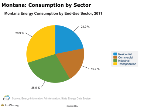 Montana: Consumption by Sector