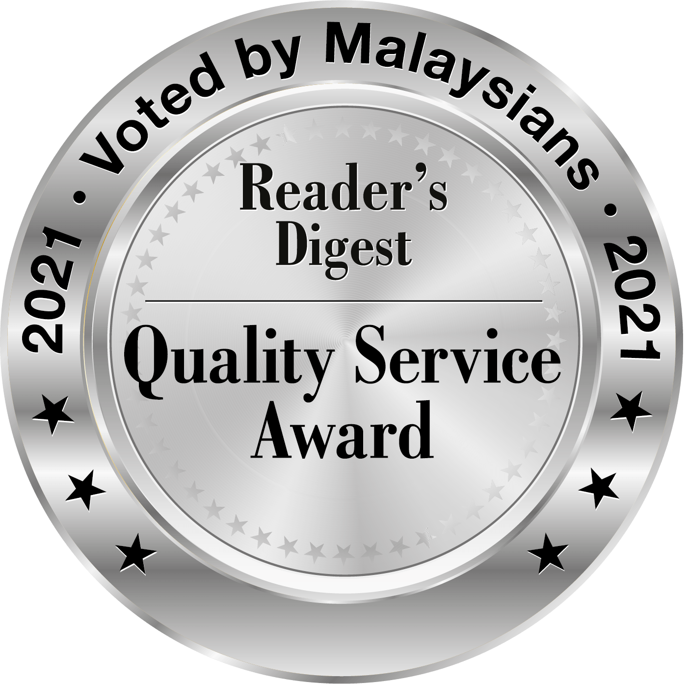 Reader's Digest Quality Service Award Asia 2021
