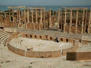 Roman ruins at Leptis Magna, Libya