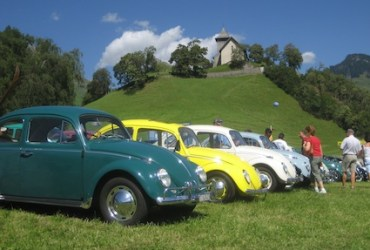 Beetles invade Switzerland for vintage VW rally