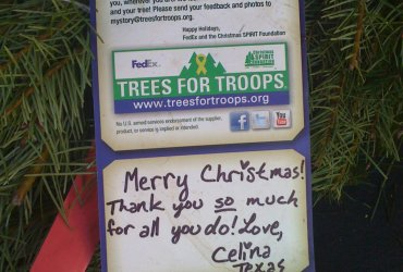 Free Christmas trees for US military