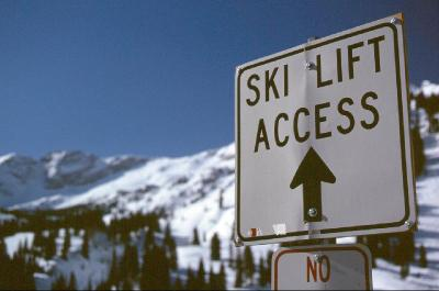 Ski Lift Access sign_skiutah