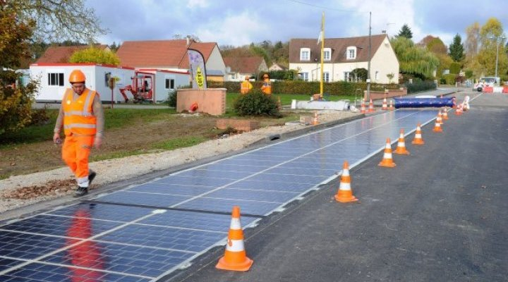 World's first solar-powered road