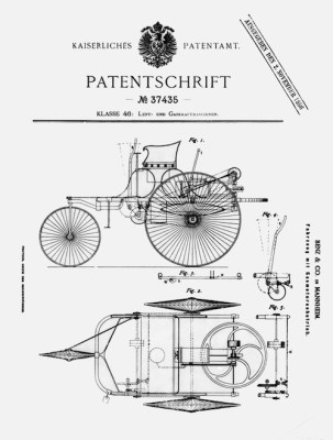 first automotibile patent