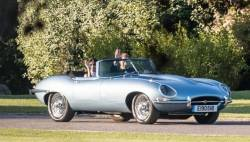Royal Couple Drives Eco-Friendly Jaguar