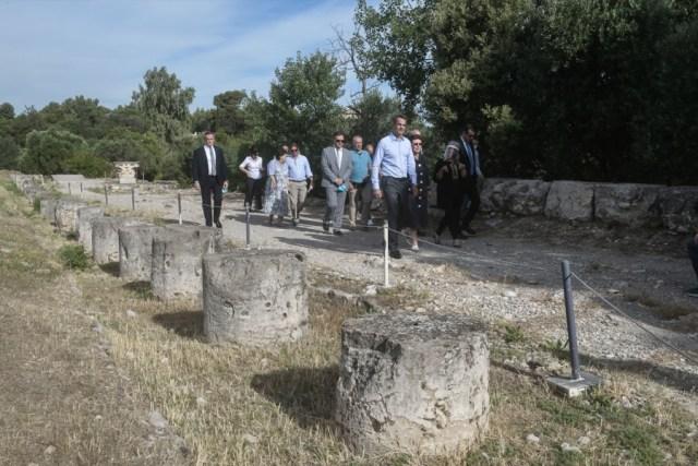 Στην Αρχαία Αγορά της Αθήνας, ο Κυριάκος Μητσοτάκης