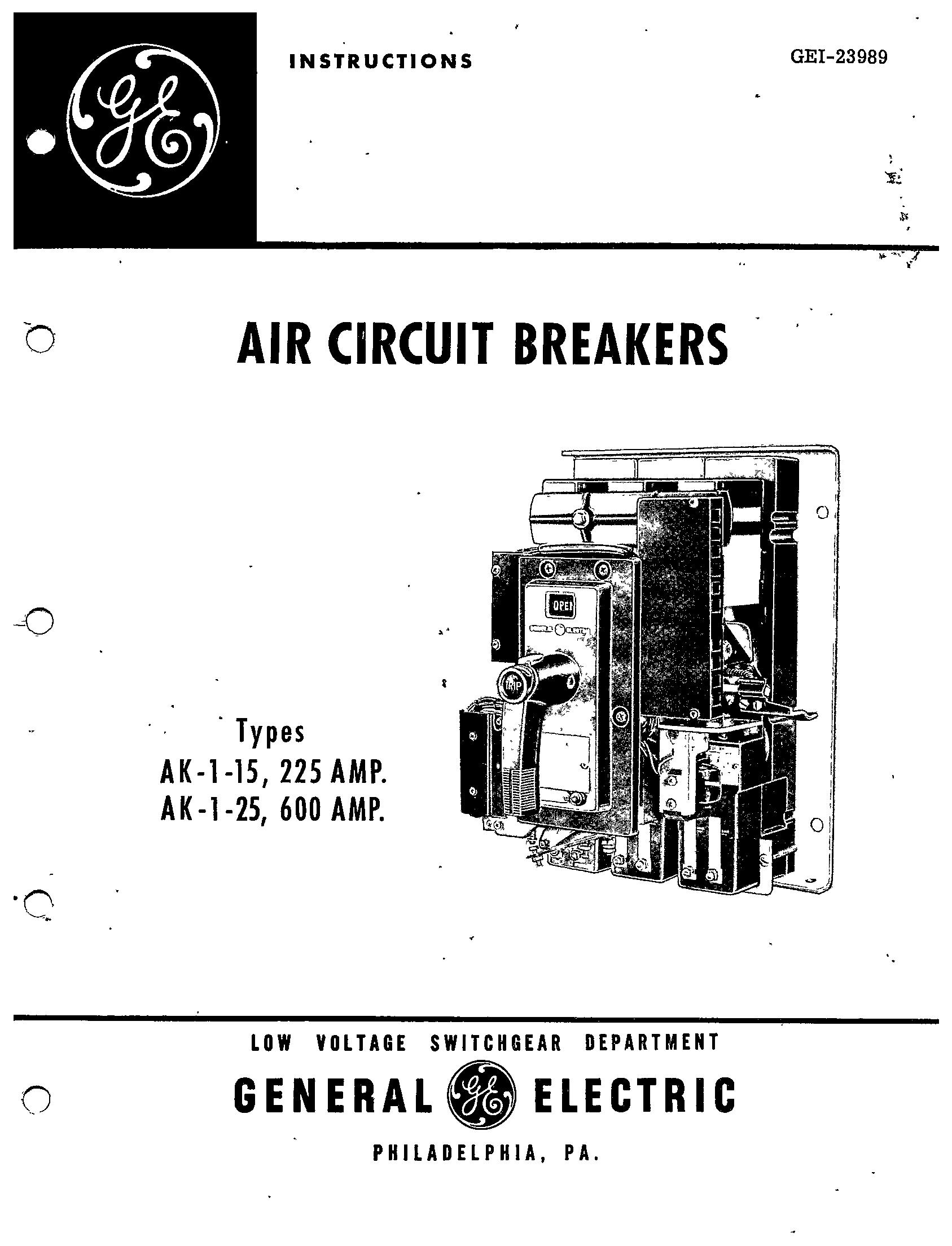 Gei Types 1 15 225 Amp Ak 1 25 600 Amp Manual