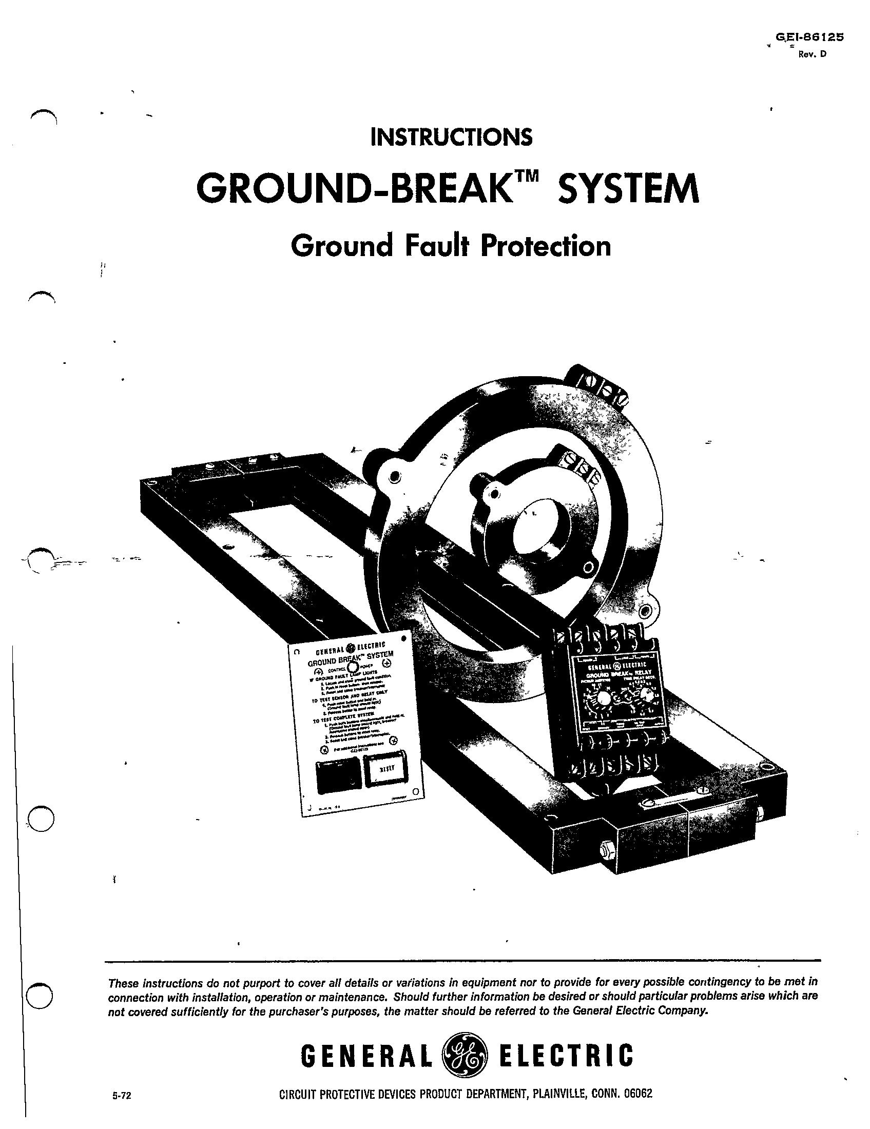 Gei Ground Break System Ground Fault Protection