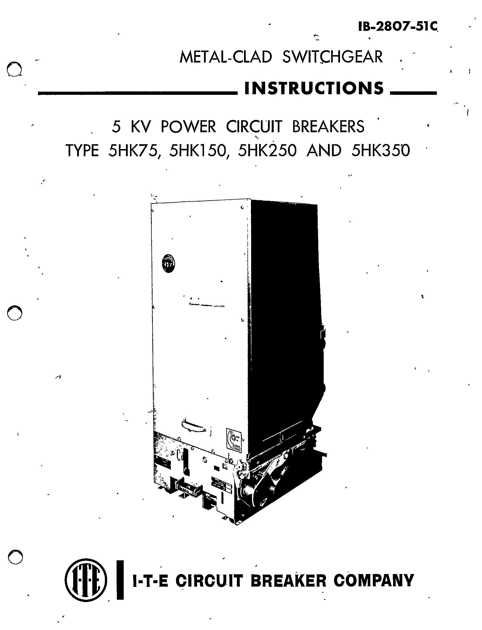 Ib 51c 5kv Power Circuit Breakers Type 5hk75 5hk150