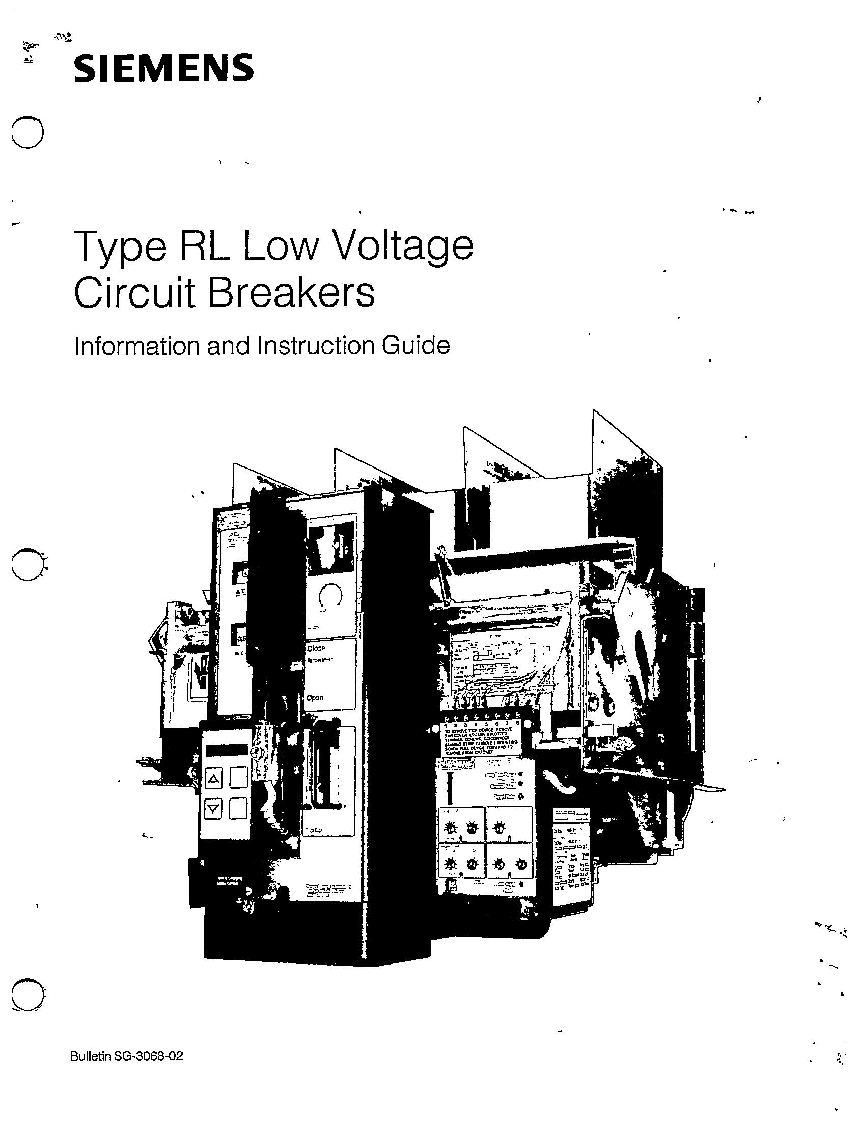Sg 02 Type Rl Low Voltage Circuit Breakers Manual