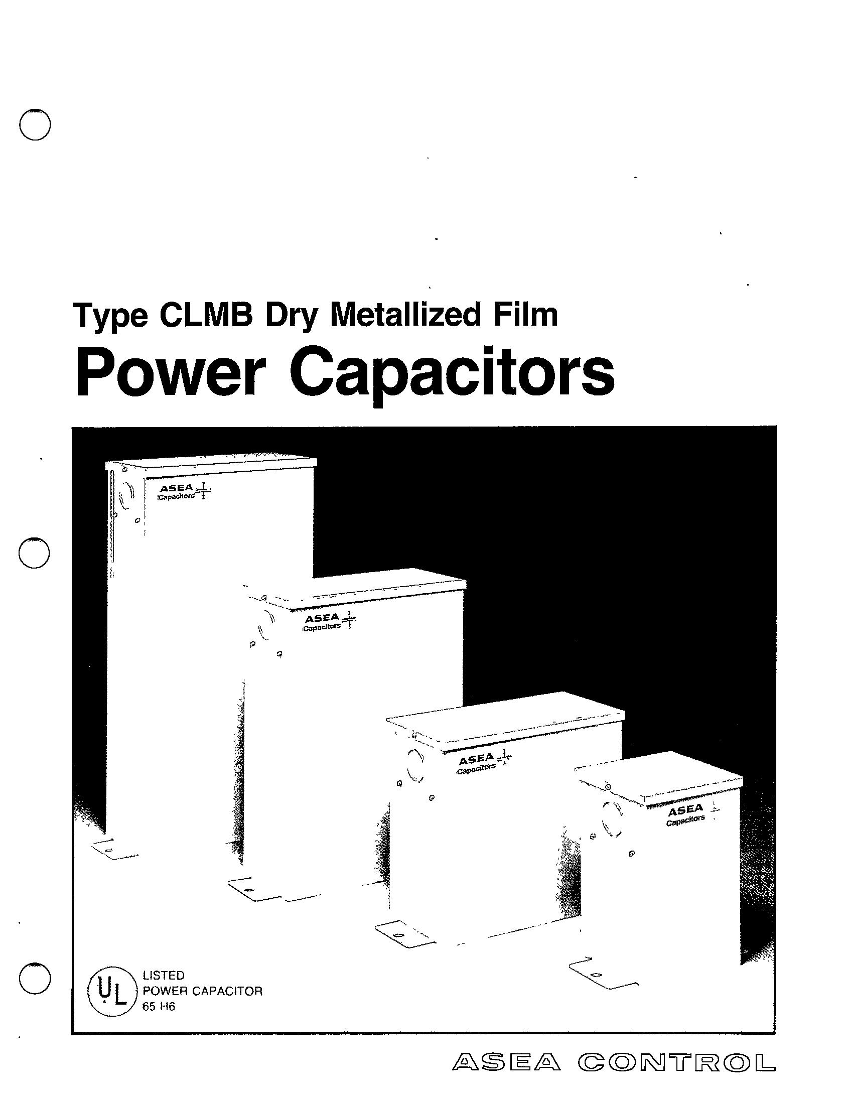 Type Clmb Dry Metallized Film Power Capacitors Manual