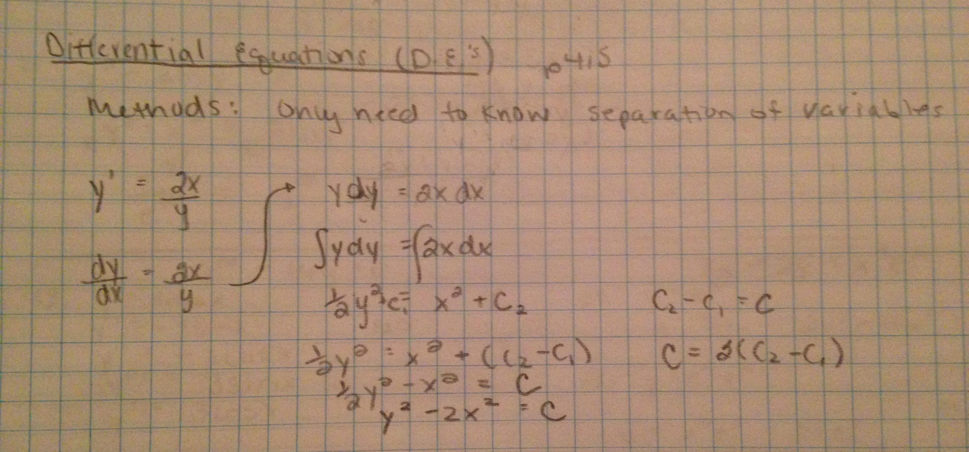 Calculus Corner
