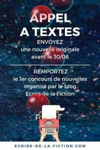 Participez au premier appel a texte du blog