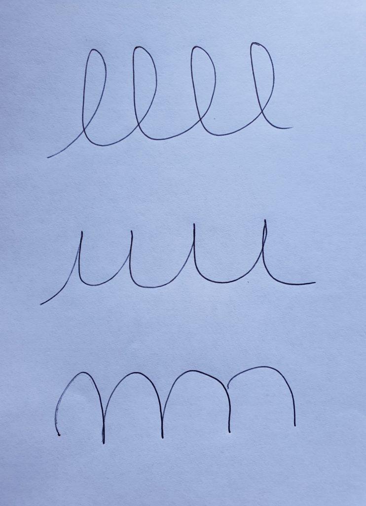 Les formes de base de l'écriture