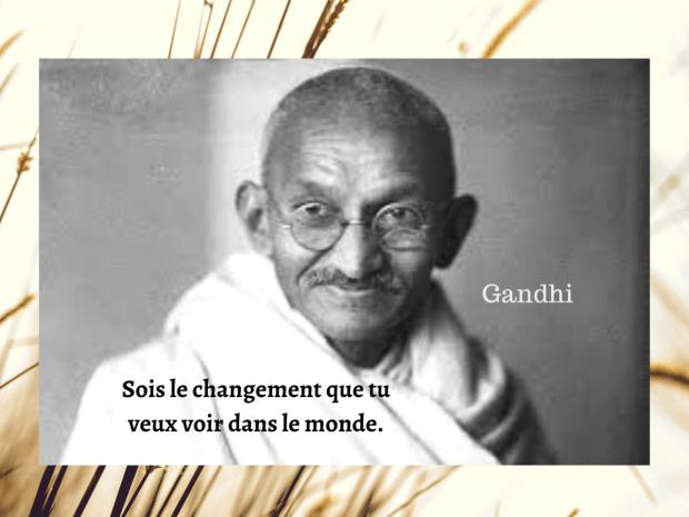 Gandhi sois le changement 250420