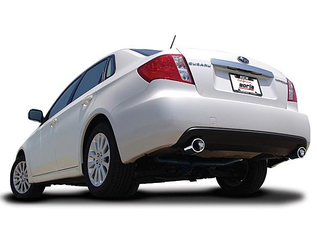 borla catback exhaust subaru impreza 2 5i sedan 4dr 2008 2011