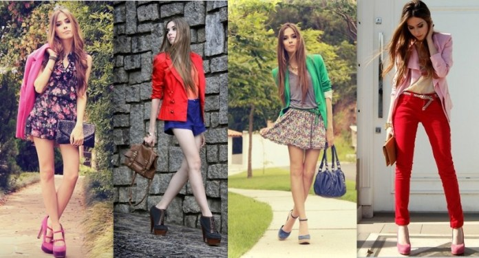 gaya berpakaian cewe yang disukai cowo - mix and match beberapa warna yang berani