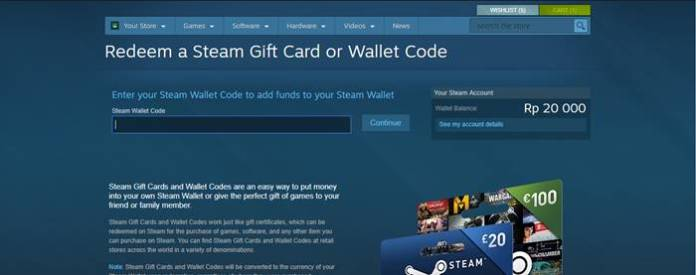 cara beli steam wallet