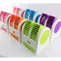 Kipas Angin Model AC Portable Mini Duduk Double Fan