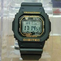 JAM TANGAN PRIA - DIGITEC GLS ANTI AIR BLACK HURUF GOLD