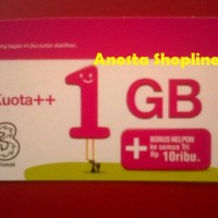 Voucher Internet 3/tri/three kuota ++ 1GB