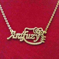 Kalung Nama Lapis Emas Kitty Gold |Fashion |Aksesoris |Jewelry |Unik