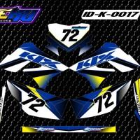 Sticker Decal Striping Dekal Stiker KLX 017 Glossy