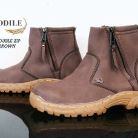 SEPATU MURAH CROCODILE SIRLOIN DOUBLE RESLETING SAFETY [COKLAT]
