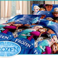 Paket Sprei + Selimut Fata Frozen 180x200
