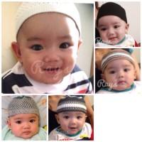 Rays Peci Topi Songkok Bayi & Anak Balita Hitam Putih Polos Murah
