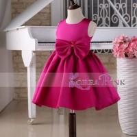 Jual Korea Pink Rose Dress Terlaris Baru   Baju Gaun / Dress Anak Te