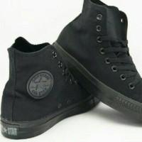 Sepatu Converse Allstars Full Black High (GO)
