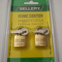 Gembok Koper Sellery 2 pcs (Keylike)