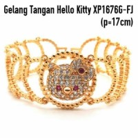 XP1676G-FJ Gelang Tangan Hello Kitty Perhiasan Lapis Emas Gold