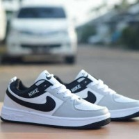 Sepatu Nike Pria Casual Sneakers Running Air Force One White List Blac