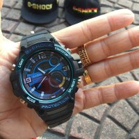 Jam Tangan Pria G-shock GWP-1000 Double Time Black Blue Kw Super