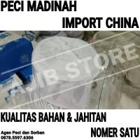 IMPORT CHINA Peci Haji Madinah | Kopiah Kopyah Putih Mercan Awing