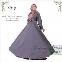 GBR - Gamis Ainun dress / maxy panjang / longdress gamis baju muslim w