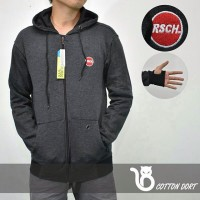 JAKET DISTRO PRIA HOODIE RSCH OUVAL RESEARCH FINGER PREMIUM