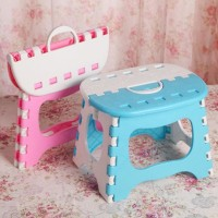 Foldable Chair Polos Kursi Plastik Lipat Mini Anak Serbaguna