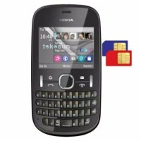HP NOKIA ASHA 200 GSM DUALSIM QWERTY KAMERA 2MEGAPIXEL