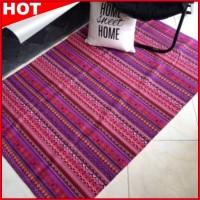 Karpet Kanvas Rug Tribal Ungu ( Purple ) Murah di Jakarta