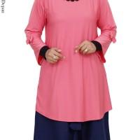 Atasan Kaos Muslimah Wanita / Blouse Muslim Spandek Polos