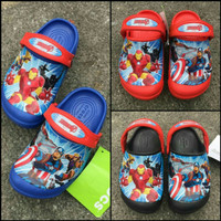 Sandal Anak Crocs LED Iron Man vs Captain America Original T T1310