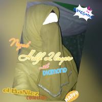 Cadar/ Niqab/ Niqob/ Purdah Half tali/ karet dua (2) layer Diamond