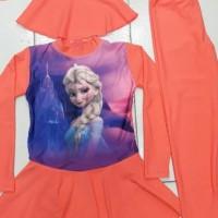 Jual Baju Renang Muslim Anak Cewek SD Frozen Elsa