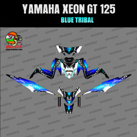 Sticker striping motor stiker Yamaha Xeon GT 125 Tribal Biru Spec B