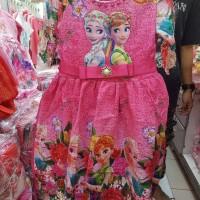 Dress Gaun Baju Fashion Anak Perempuan Frozen Murah